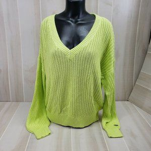 Pink Victoria's Secret Cable Knit Sweater Large